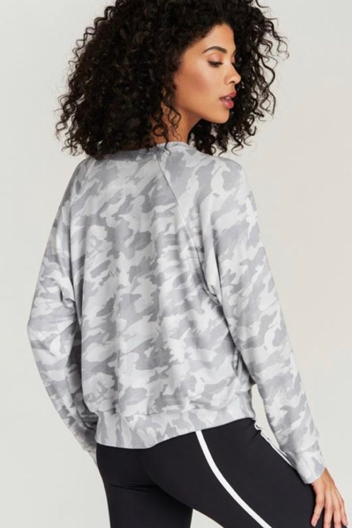 Strut This Sawyer Sweatshirt in White Camo