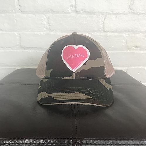 Grateful Camouflage Trucker Hat