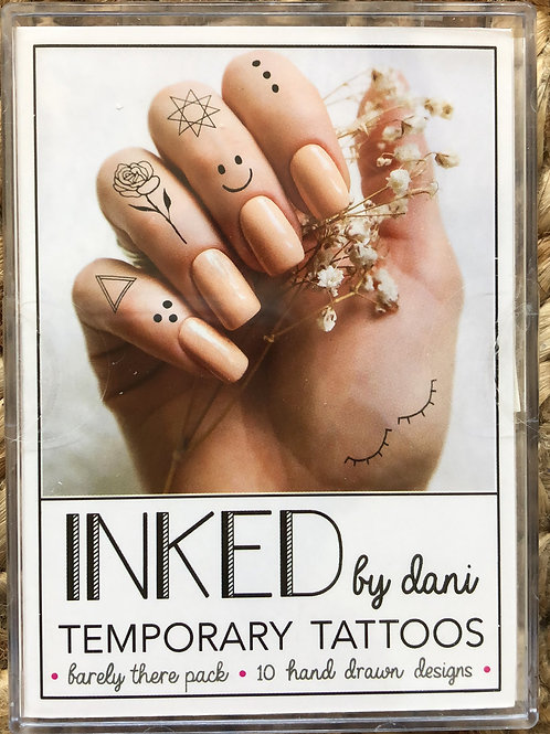 """Inked by dani Temporary Tattoos the """"Barely There"""" pack"""