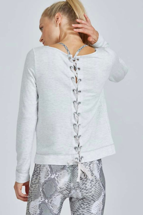 PrismSport Lace Back Sweatshirt in French Terry
