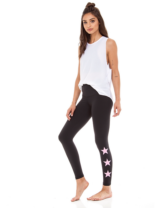 Teagan Long in Black with Pink Stars