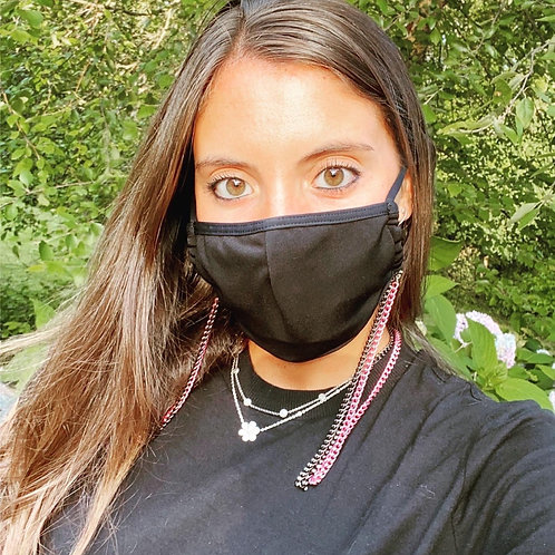 Chain Mask Holder in Black Link