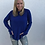 Thumbnail: Pullover Thumbhole Sweatshirt in Cobalt