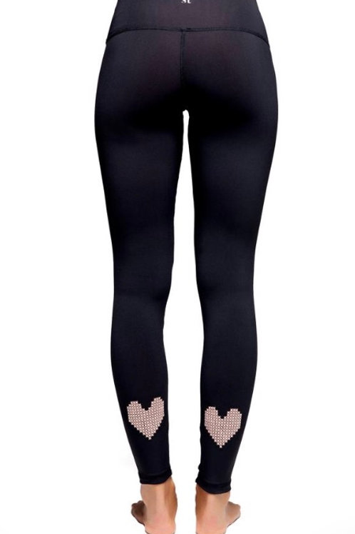 Strut This True Love Ankle in Black w/Chalk Pink Heart Embroidery