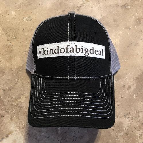 #kindofabigdeal Black with Grey Trucker Hat