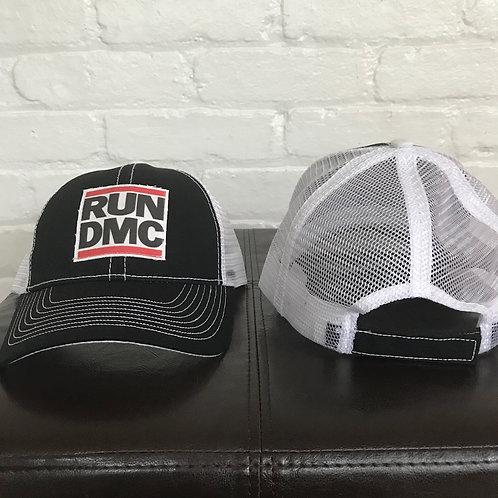RUN DMC Black/White Trucker Hat