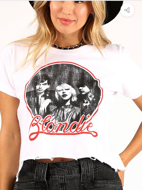 "Prince Peter Collection ""Blondie"" Distressed Crop Tee"