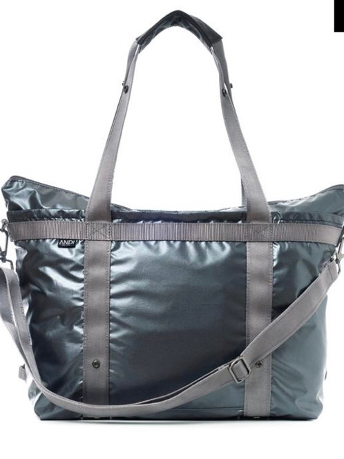 The ANDI Bag in Gunmetal Rock Metallic