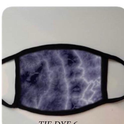 Reusable Masks in Tie Dye Purple/Black/Grey