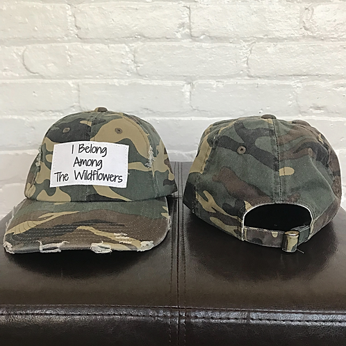 I Belong Among the...Distressed Camo Hat