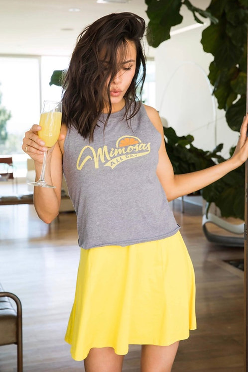 "Sub_Urban Riot ""Mimosas All Day"" Muscle Tee in Gray"