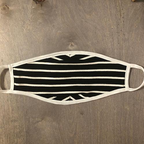 Reusable Masks in Black/White Stripe