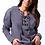 Thumbnail: Farrah Tie Front Sweatshirt in Warrior Grey