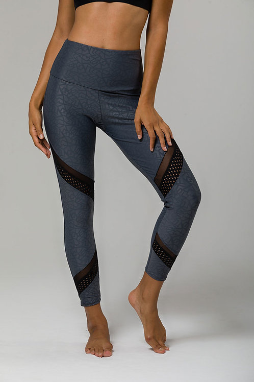 Onzie Sporty Legging in Slate Gray Pandora