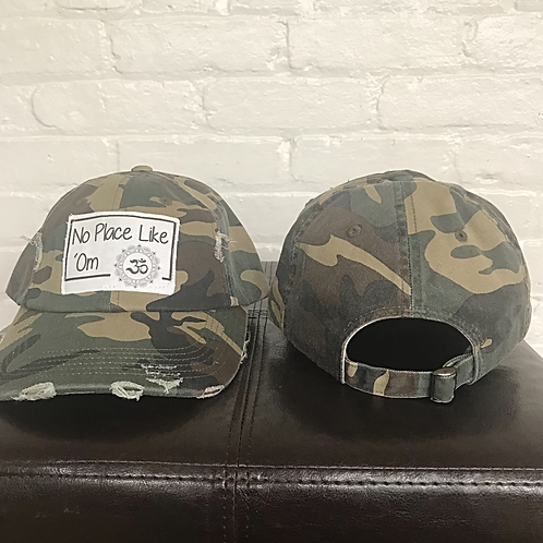 No Place Like 'Om Distressed Camo Hat