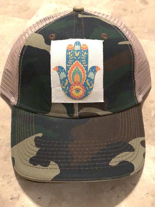 Hamsa Camouflage Trucker Hat
