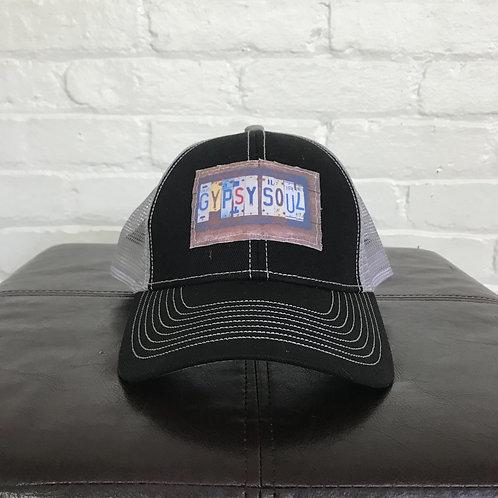 """""""Gypsy Soul"""" Black and Grey Trucker Hat"""