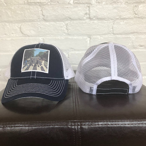 """Beatles Abbey Road"" Black and White Trucker Hat"