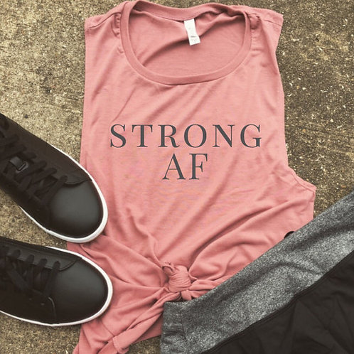 Strong AF Muscle Tee