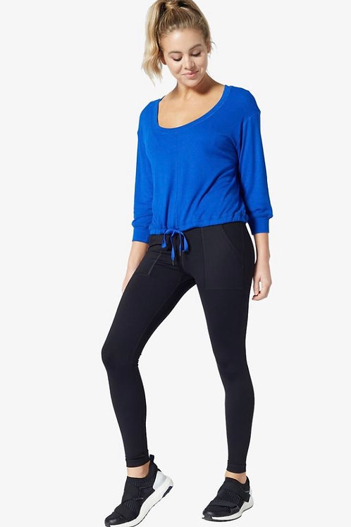 Vimmia Serenity Scoop Neck Top with Tie in Deep End