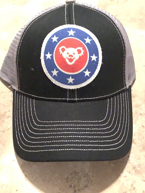 Grateful Dead Black with Grey Trucker Hat