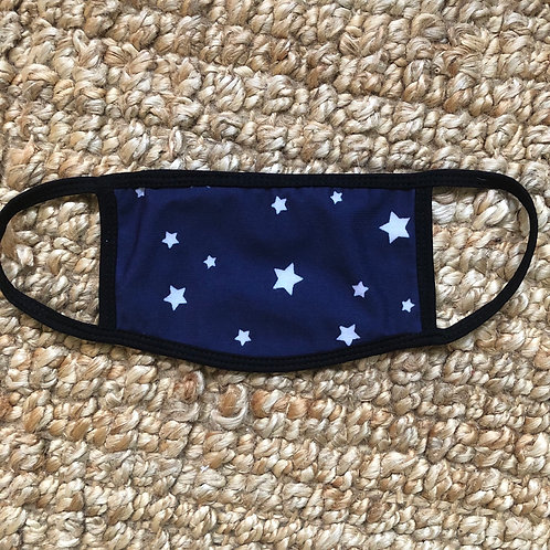 Reusable Masks in Navy with White Stars