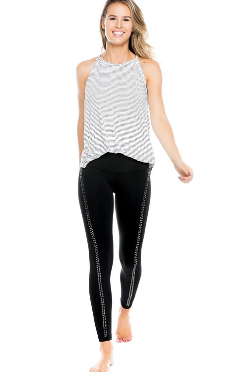 Strut This Lux Pant in Black with Silver Studs