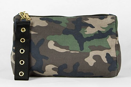 """Green Camo """"Everything"""" Clutch"""