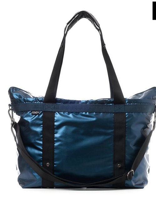 The ANDI Bag in Peacock Blue Metallic