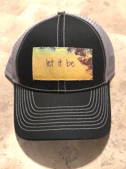 Let It Be Black with Grey Trucker Hat
