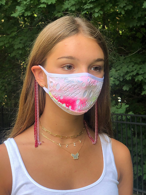 Chain Mask Holder in Pink Link