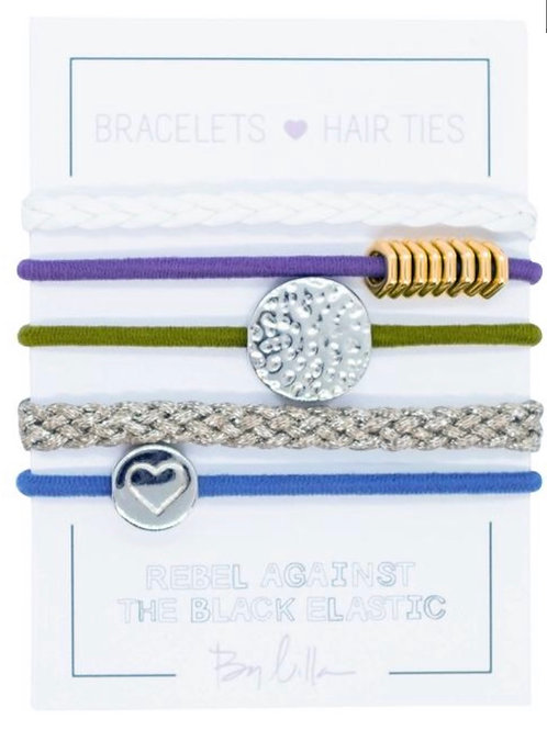 "By Lilla ""Macaron"" Mini Stack Hair Ties"