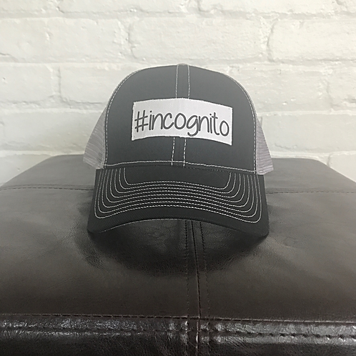 #incognito Black with Grey Trucker Hat