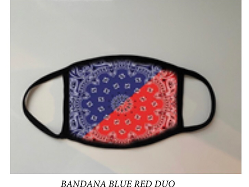 Reusable Masks in Tie Dye in Red and Blue Bandana Print