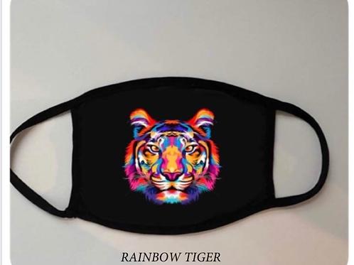 Reusable Masks in Tie Dye in Rainbow Tiger