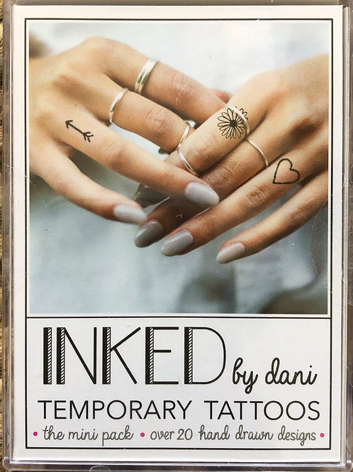 "Inked by dani Temporary Tattoos the ""Mini"" pack"