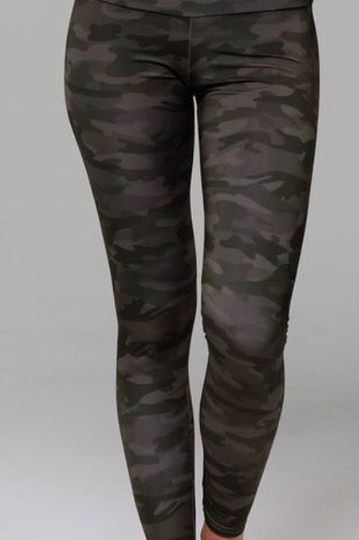 Onzie High Rise Legging in Moss Camo