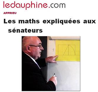 Jean Bruasse explicant les maths aux sénateurs
