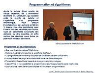 Apprieu Isère, maths algorithmes, principes simples de programation