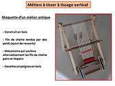 Maquette de métier à tisser en bois, antiquité, Apprieu, les maths par la main, Isère, Bernard PERRIN