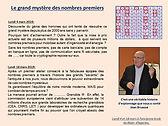 Les maths par la main, Les nombres premiers, Apprieu, Jean Bruasse, mystère