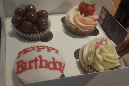 4 Mixed Flavour Happy Birthday