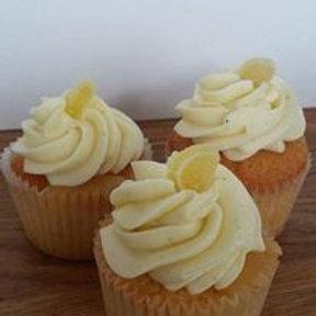 6 Lemon Cupcakes