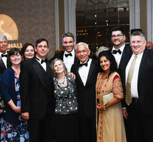 Baltimore family with Gala guests and Devin Dwyer