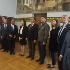 Mine Free Sarajevo delegation representatives at City Hall