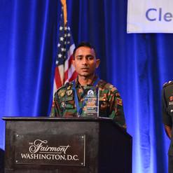 MDD Team of the Year honoree and MDD Sammy's handler, Lance Corporal Nishantha Bandara