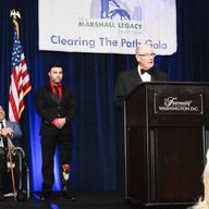 LTG Rhame introduces JP Lane to receive his award