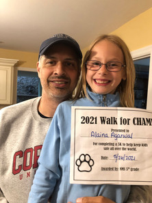 North Mianus participants in the Paw-er Walk for Peace!