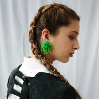 Strappy Bolero, Moss Earrings