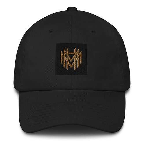 MHM Gold Logo Unisex Cotton Fitted Babseball Cap